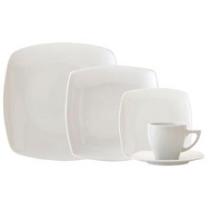 Vajilla cudrada 30 piezas porcelana vinci - Vajilla cuadrada carrefour ...
