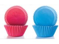 Cápsulas de repostería rosa y azules