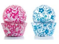 Cápsulas de repostería decor rosa y azul